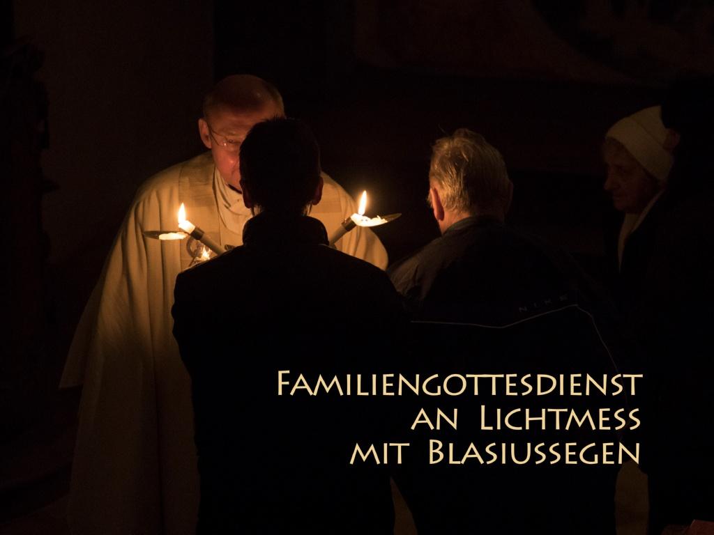 Lichtmessgottesdienst mit Blasiussegen