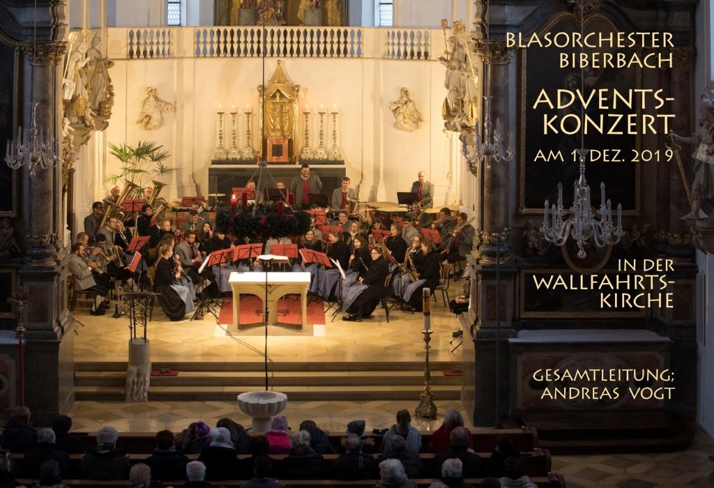 Adventskonzert des Blasorchesters Biberbach